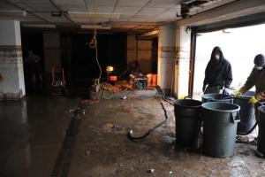 Flooded garage in Brookline