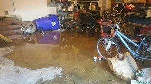 Water Damage Restoration Of Water Logged Garage